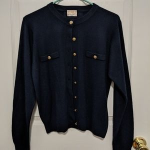 MOVING SALE - Navy Cardigan with Gold Buttons